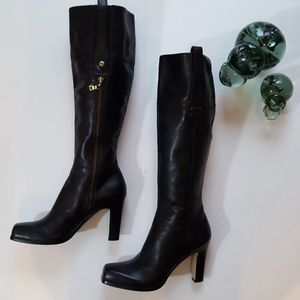 Nine West Leather Knee High Boots Size 7.5